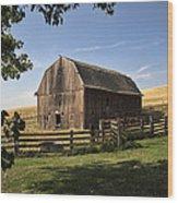 Old Barn On The Palouse Wood Print