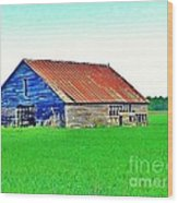 Old Barn On Treaty Road Oakhill Kansas Wood Print