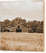 Old Barn Staying Silent  Wood Print