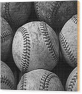 Old Baseballs Wood Print by Garry Gay