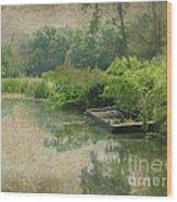 Old Bateau Wood Print