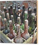 Old Beer Bottles Wood Print