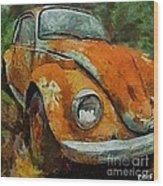 Old Beetle Wood Print