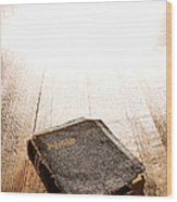 Old Bible In Divine Light Wood Print