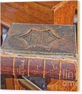 Old Bible Wood Print
