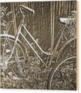 Old Bikes Wood Print