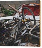 Old Bikes - Series I Wood Print