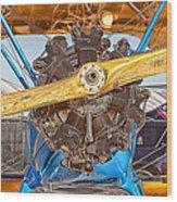 Old Biplane Wood Print