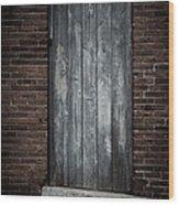 Old Blacksmith Shop Door Wood Print
