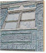 Old Blue Building I Wood Print