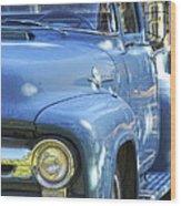 Old Blue Wood Print