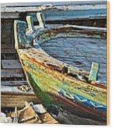 Old Boat - Lebanese Artist Zaher El- Bizri Wood Print