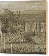 Old Boothill Cemetery Wood Print