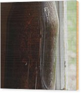 Old Bottle In The Window Wood Print