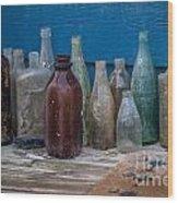 Old Bottles Wood Print