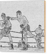 Old Boxing Old Time Wood Print