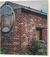 Old Brick Building Wood Print