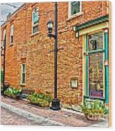 Old Brick Wood Print by Baywest Imaging