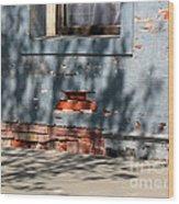 Old Bricks And Mortar Wood Print