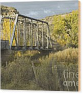 Old Bridge At La Boca Wood Print