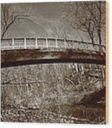 Old Bridge In Autumn Wood Print