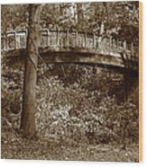 Old Bridge In Summer Wood Print