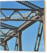 Old Bridge Structure Wood Print