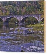 Old Bridge Two Wood Print