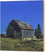 Old Broken Down Barn In Ohio Wood Print