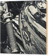 Old Bsa Cafe Racer Wood Print