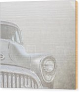 Old Buick Out By The Barn Wood Print