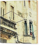Old Building Facade Wood Print