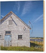 Old Building In North Rustico Wood Print