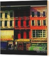 Old Buildings 6th Avenue - Vintage Nyc Architecture Wood Print