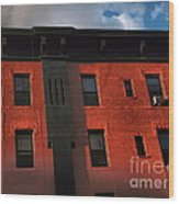 Brownstone 1 - Old Buildings And Architecture Of New York City Wood Print