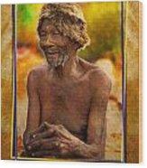 Old Bushman Wood Print