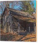 Old Cabin In The Woods Wood Print