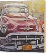 Old Cadillac Wood Print