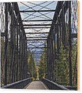 Old Canmore Railroad Bridge Wood Print