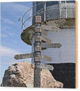 Old Cape Point Lighthouse In South Africa Wood Print