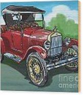 Old Car 04 Wood Print