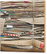 Old Cardboard Boxes  Wood Print
