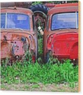 Old Cars Wood Print