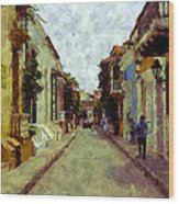 Old Cartagena 1 Wood Print