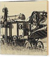 Old Case Thresher Wood Print