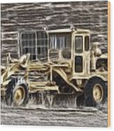Old Cat Grader Wood Print