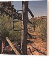Old Cattle Station V2 Wood Print
