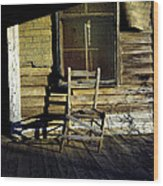 Old Chair On Old Porch Wood Print
