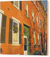 Old Charestown Neighborhood Wood Print