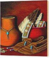 Old Cherokee Moccasins Wood Print